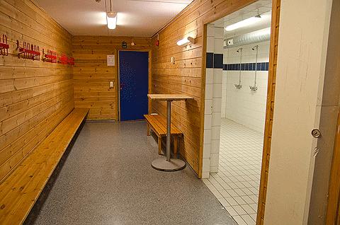 KFUM-Hallen, garderobe